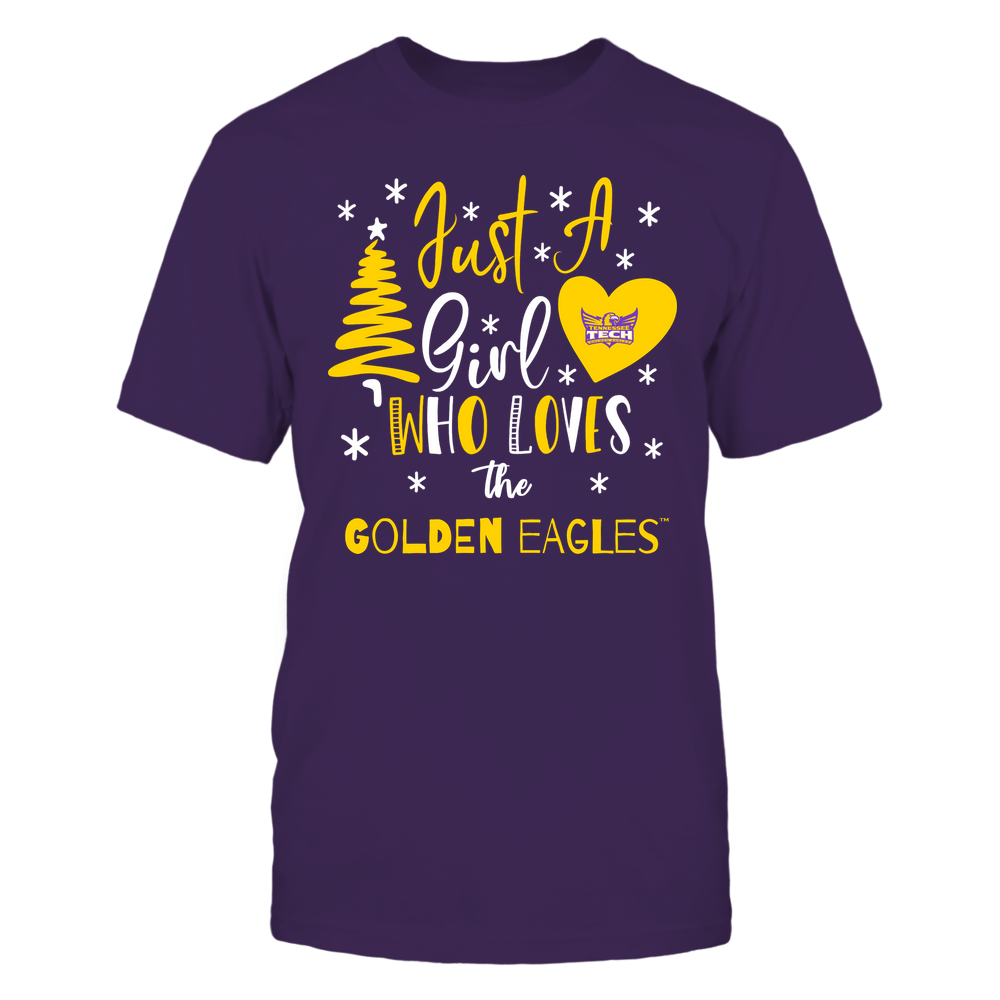 Tennessee Tech Golden Eagles - Christmas - Just A Girl Who Loves - Mascot - Team Front picture