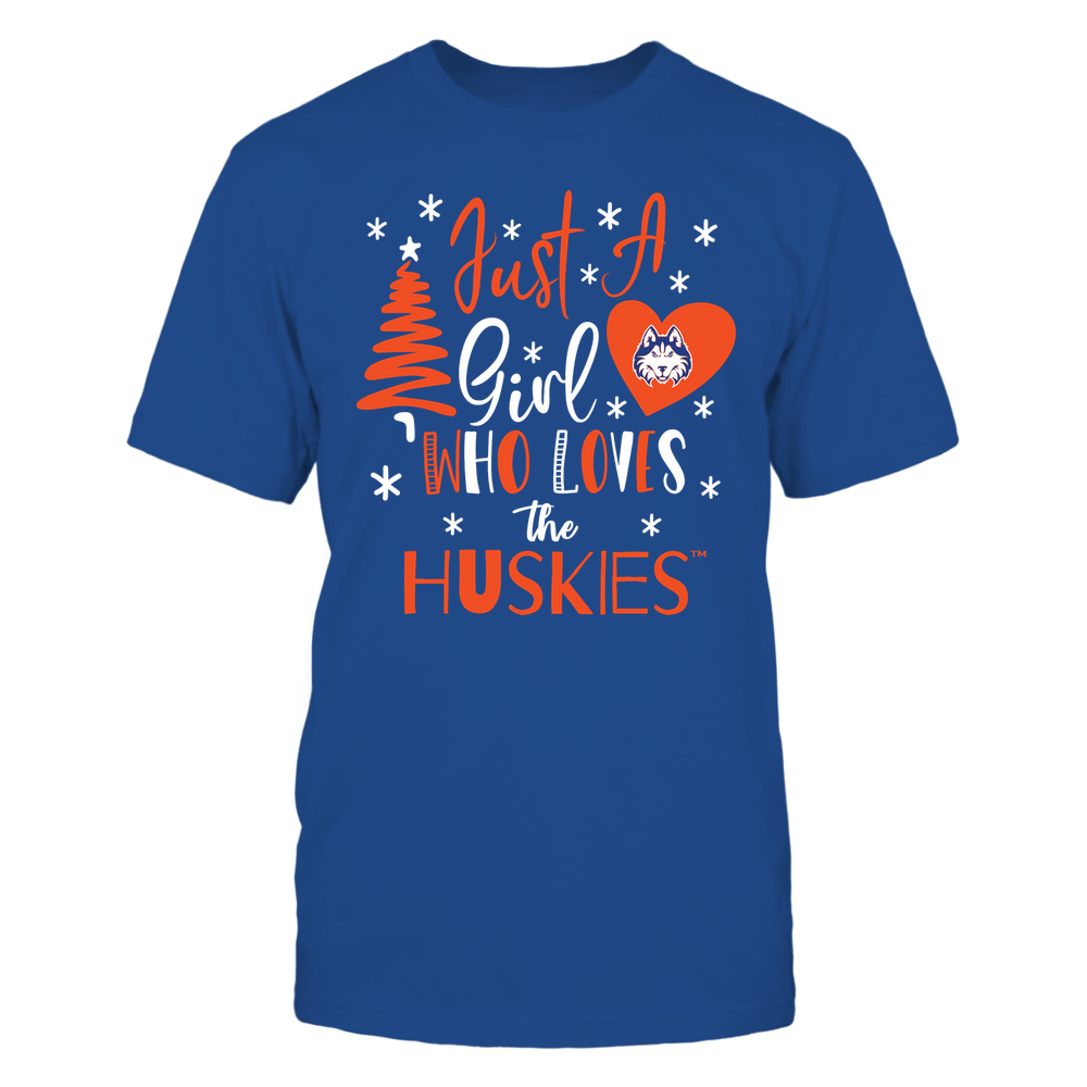 Houston Baptist Huskies - Christmas - Just A Girl Who Loves - Mascot - Team Front picture