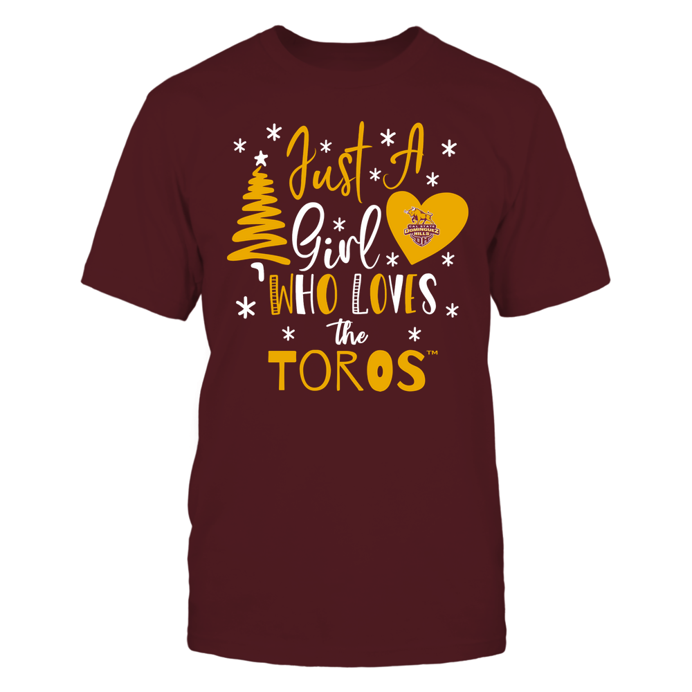 Cal State Dominguez Hills Toros - Christmas - Just A Girl Who Loves - Mascot - Team Front picture