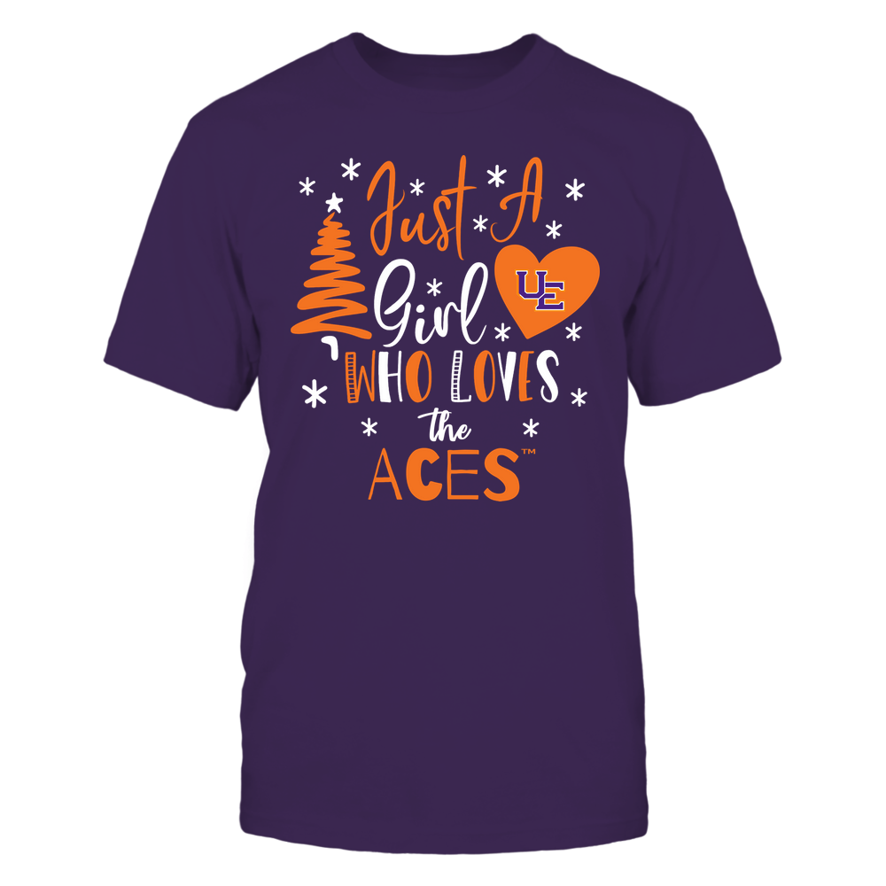 Evansville Purple Aces - Christmas - Just A Girl Who Loves - Mascot - Team Front picture