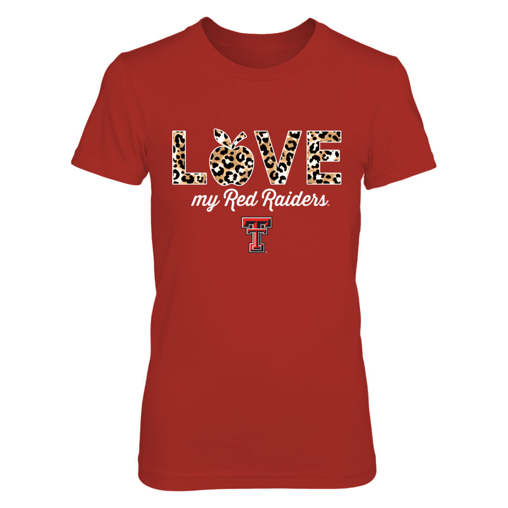 Texas Tech Red Raiders - Teacher - Love My Team - Leopard Pattern - IF13-IC13-DS75 Front picture