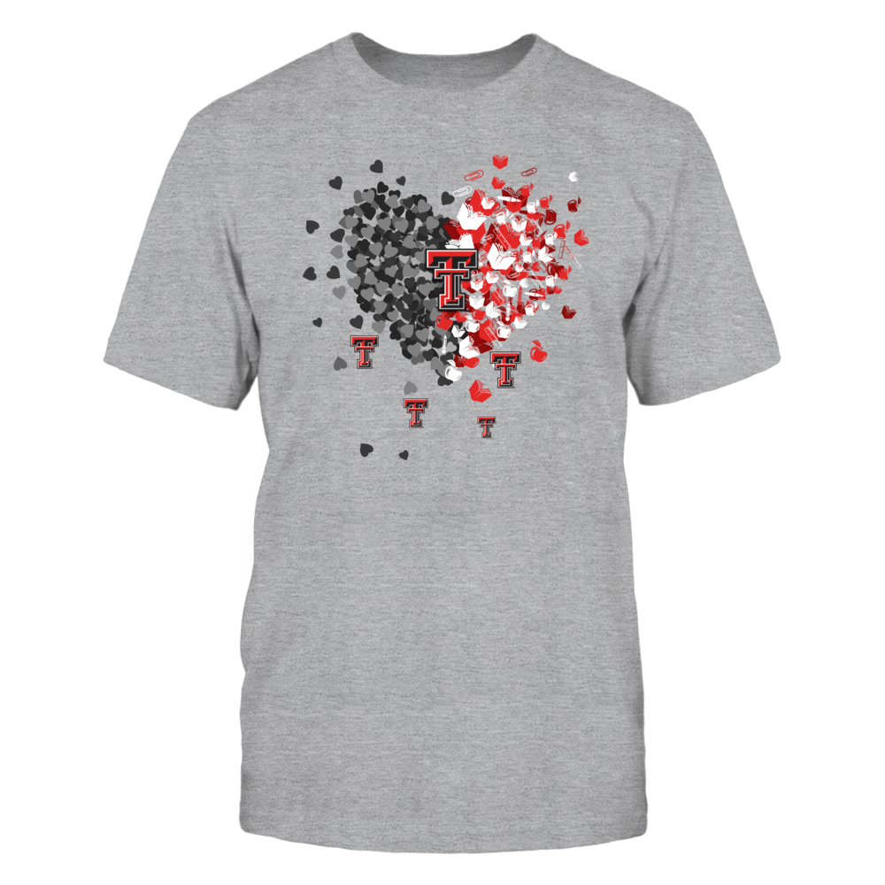 Texas Tech Red Raiders - Teacher - Teacher Things Flying Heart Grey Shirt - IF17-IC17-DS29 Front picture