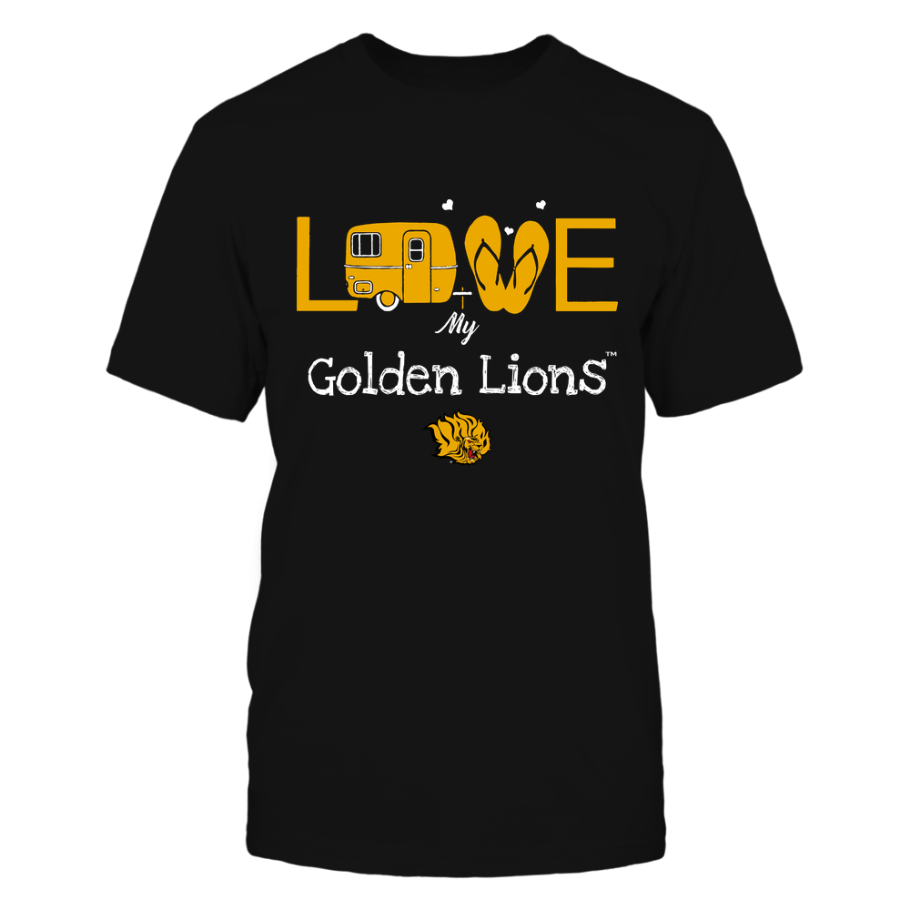 Arkansas Pine Bluff Golden Lions - Camping - Love My Team - Camper Front picture
