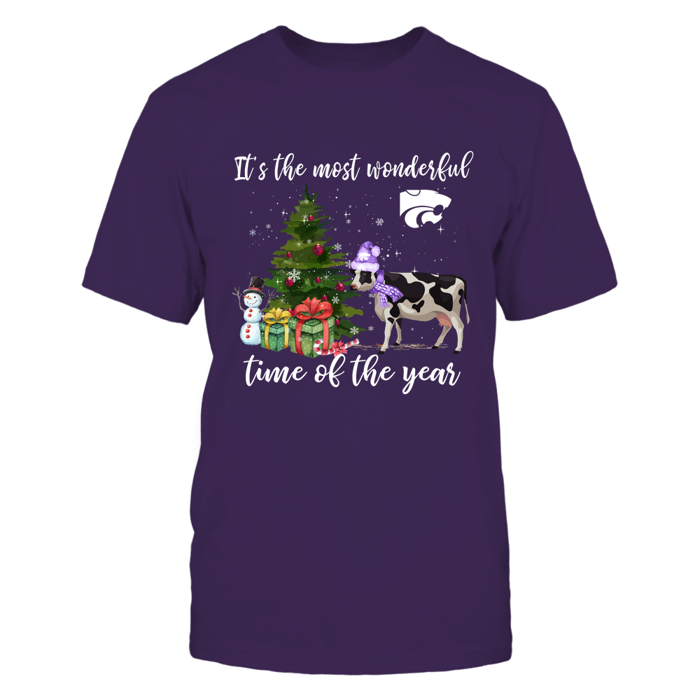 Kansas State Wildcats - Xmas - Farmer - Most Wonderful Time - Cow - IF13-IC13-DS84 Front picture