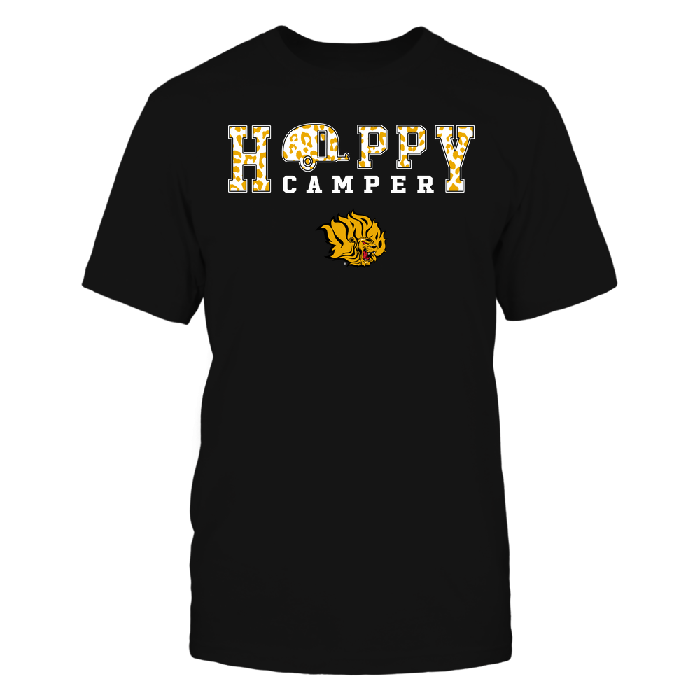 Arkansas Pine Bluff Golden Lions - Camping - Happy Camper - Leopard Pattern Front picture