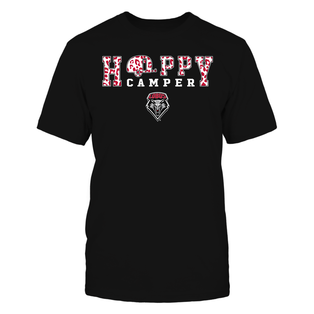 New Mexico Lobos - Camping - Happy Camper - Leopard Pattern Front picture