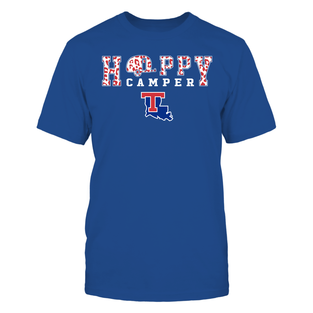 Louisiana Tech Bulldogs - Camping - Happy Camper - Leopard Pattern Front picture