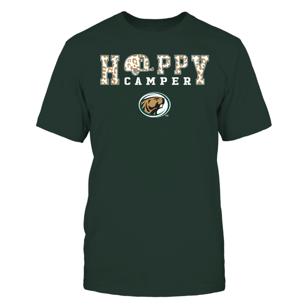 Bemidji State Beavers - Camping - Happy Camper - Leopard Pattern Front picture