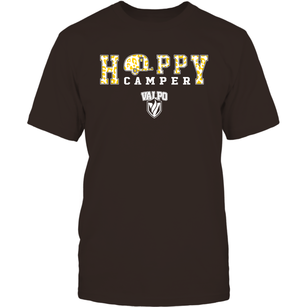 Valparaiso Crusaders - Camping - Happy Camper - Leopard Pattern Front picture