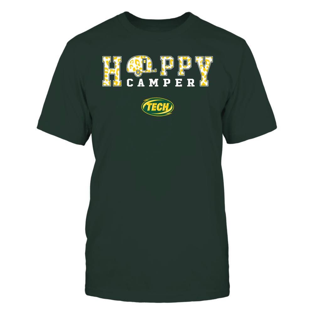 Arkansas Tech Golden Suns - Camping - Happy Camper - Leopard Pattern Front picture