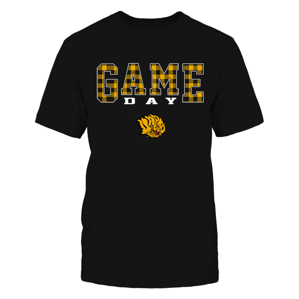 Arkansas Pine Bluff Golden Lions - Game Day - Checked Pattern - Team Front picture