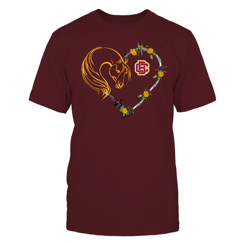 Bethune-Cookman Wildcats - Horse - Heart Barbed Wire - Team Front picture