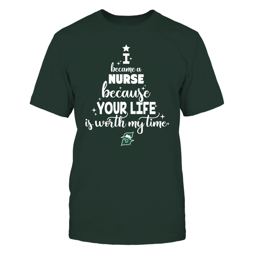 Stetson Hatters - Christmas - I Became A Nurse Because Your Life Is Worth My Time - Christmas Tree Front picture