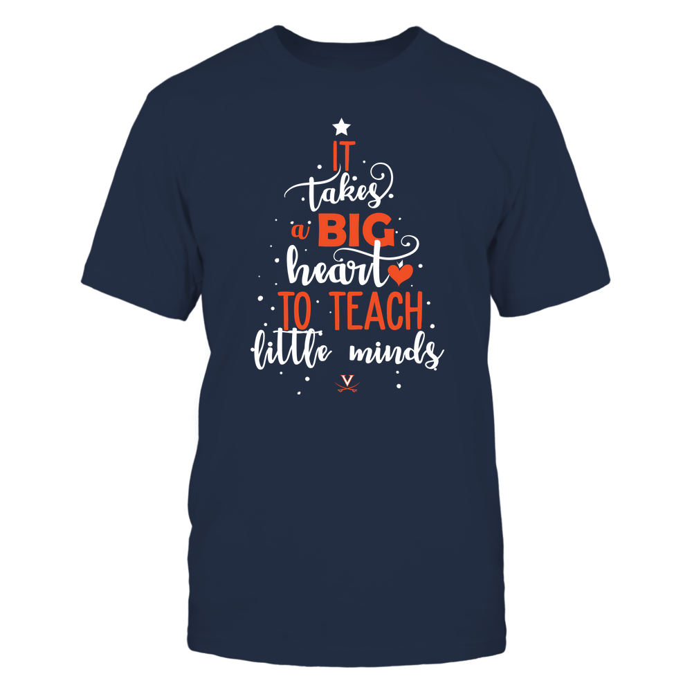Virginia Cavaliers - Christmas - Teacher - It Takes A Big Heart To Teach Little Minds - Christmas Tree - Team Front picture