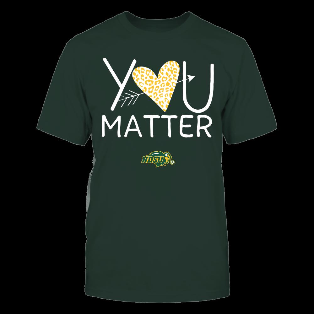 North Dakota State Bison - Teacher - You Matter - Leopard Heart Front picture