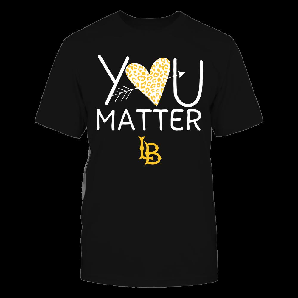 Long Beach State 49ers - Teacher - You Matter - Leopard Heart Front picture