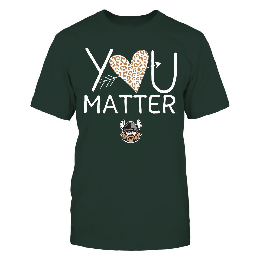 Cleveland State Vikings - Teacher - You Matter - Leopard Heart Front picture