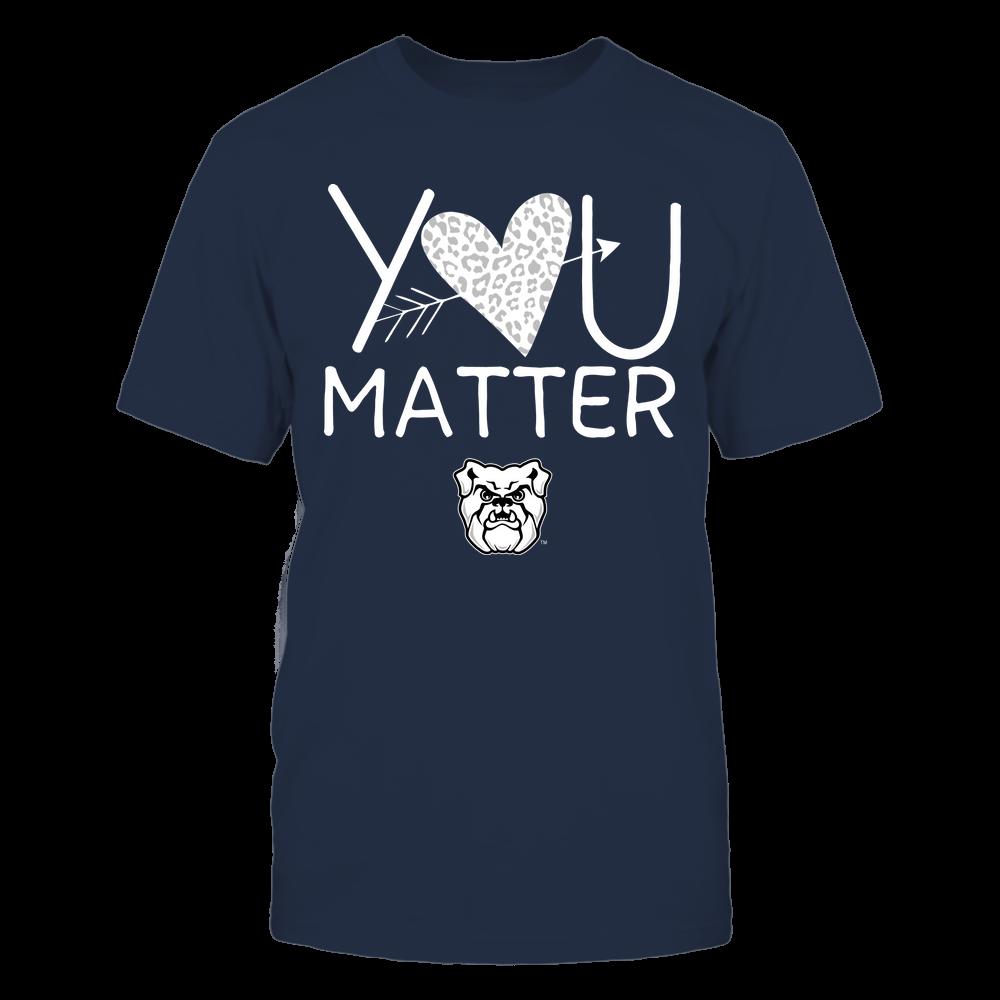 Butler Bulldogs - Teacher - You Matter - Leopard Heart Front picture