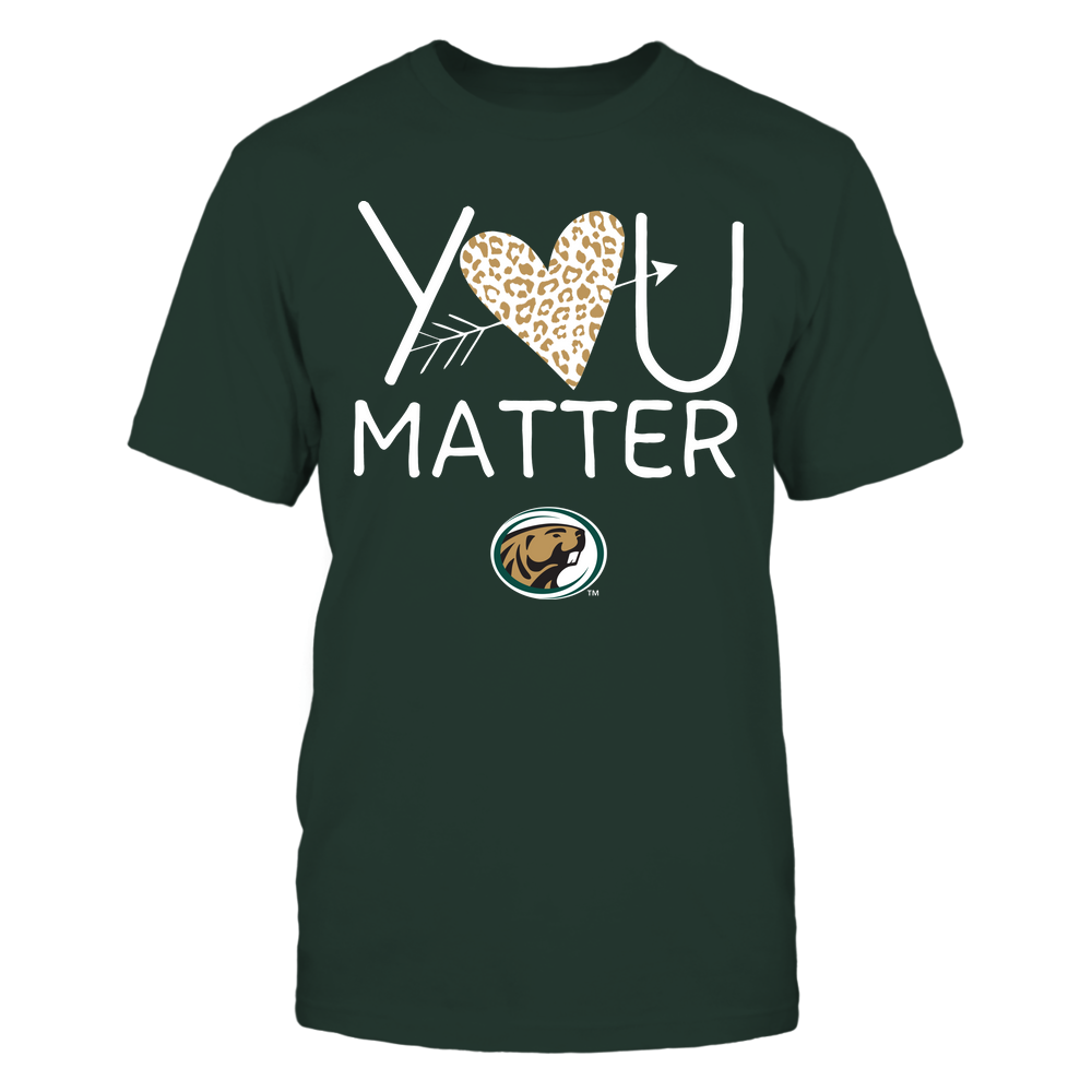 Bemidji State Beavers - Teacher - You Matter - Leopard Heart Front picture