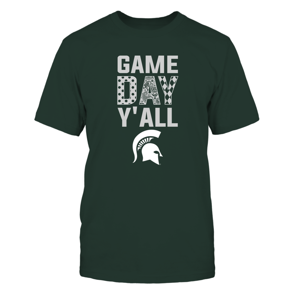 Michigan State Spartans - Game Day Y'all - Patterned Day - Team Front picture