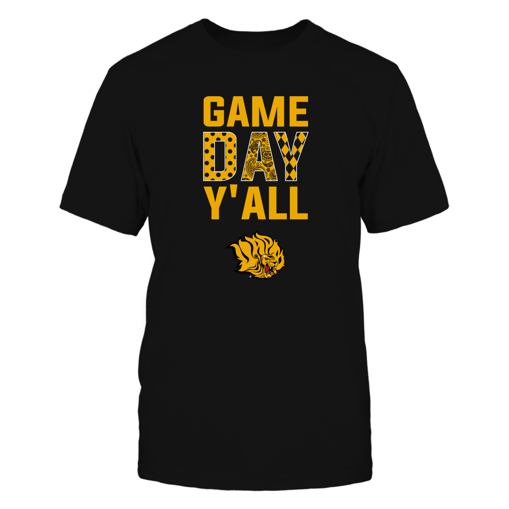 Arkansas Pine Bluff Golden Lions - Game Day Y'all - Patterned Day - Team Front picture