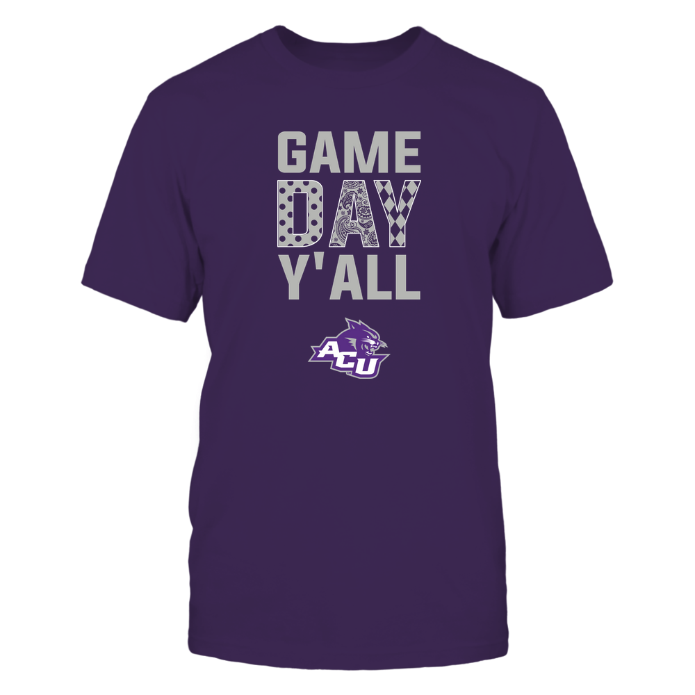 Abilene Christian Wildcats - Game Day Y'all - Patterned Day - Team Front picture