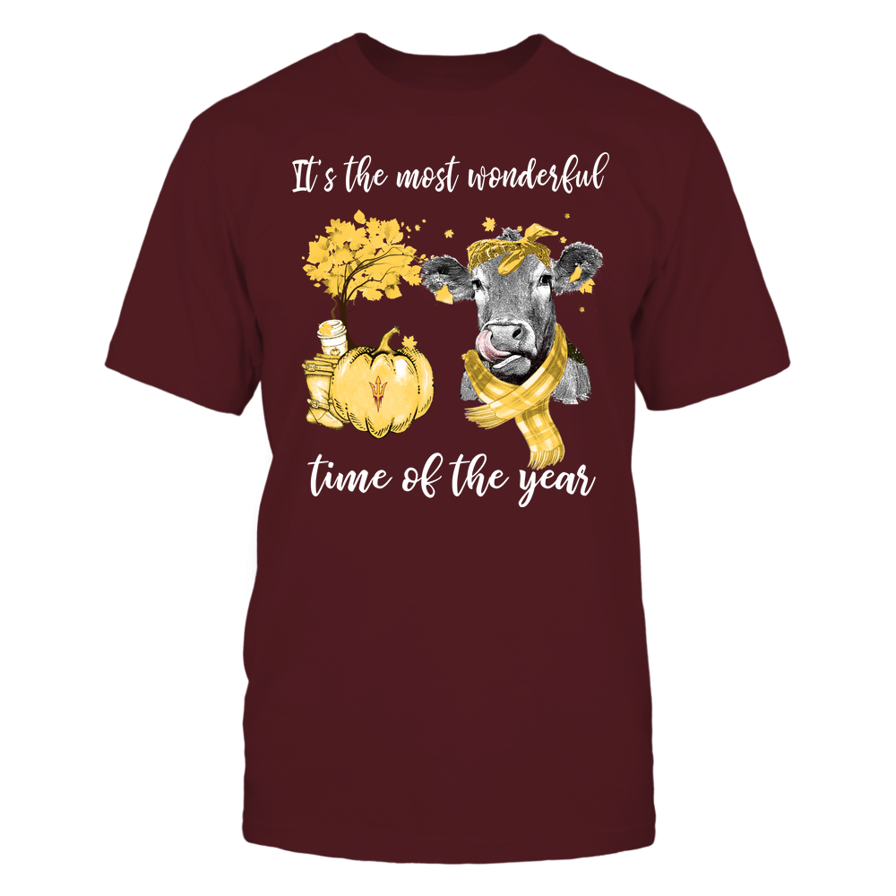 Arizona State Sun Devils - Fall - It's The Most Wonderful Time Of The Year - Cow Front picture