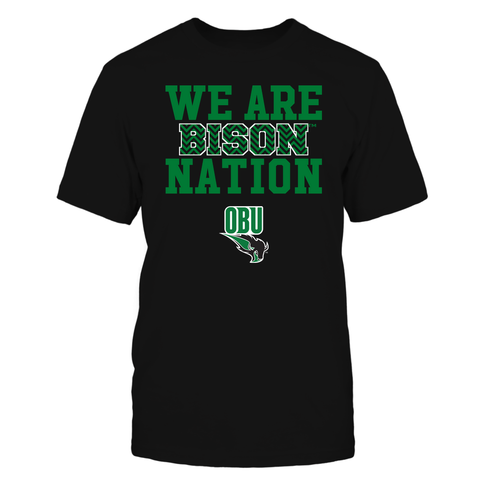 Oklahoma Baptist Bison - We Are Nation - Team - Chevron Pattern Front picture