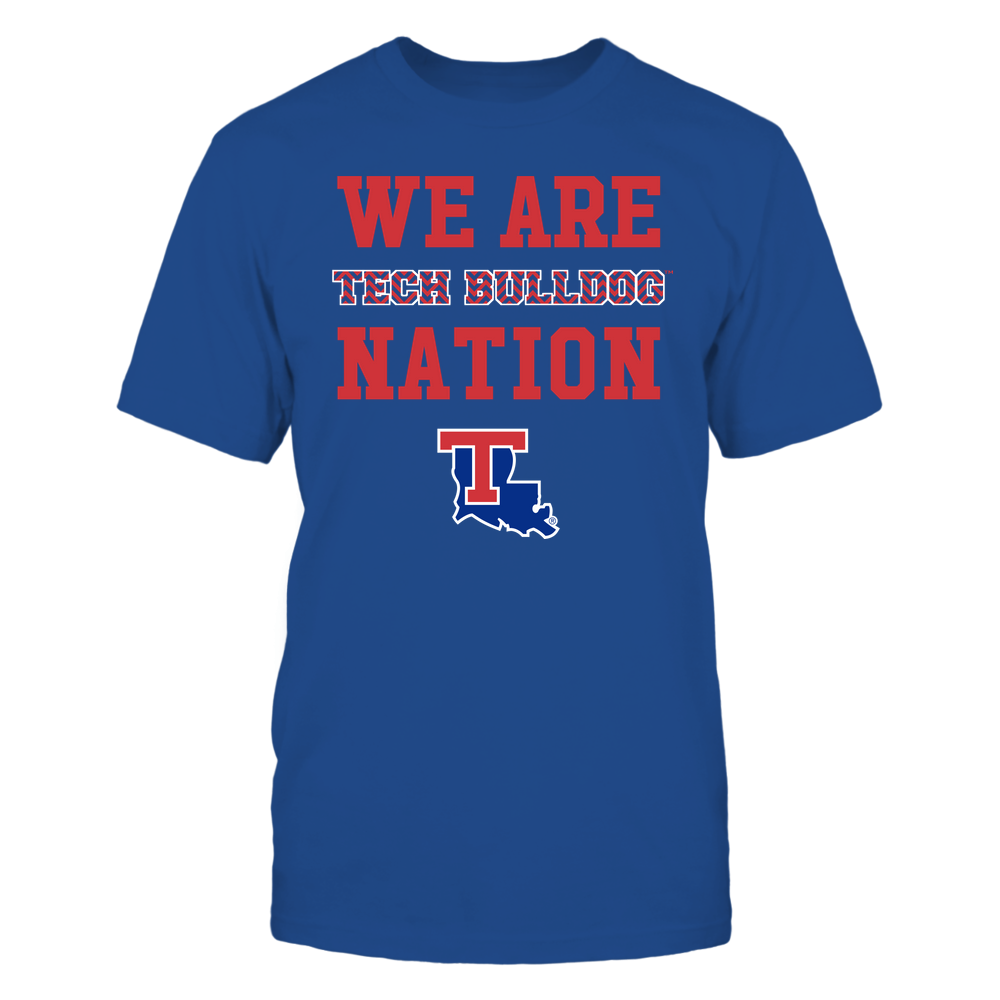 Louisiana Tech Bulldogs - We Are Nation - Team - Chevron Pattern Front picture