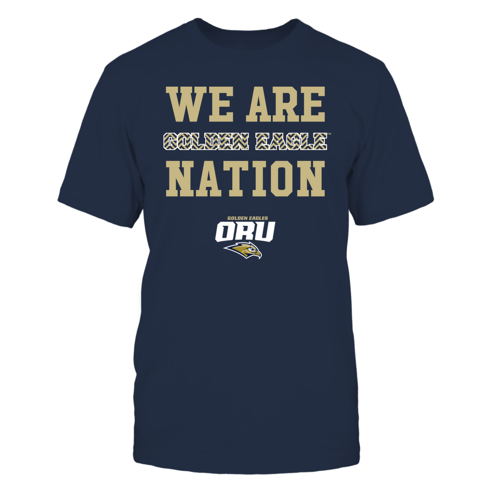 Oral Roberts Golden Eagles - We Are Nation - Team - Chevron Pattern Front picture