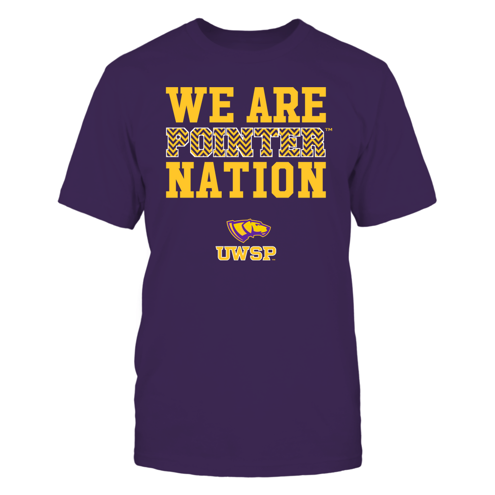 Wisconsin-Stevens Point Pointers - We Are Nation - Team - Chevron Pattern Front picture