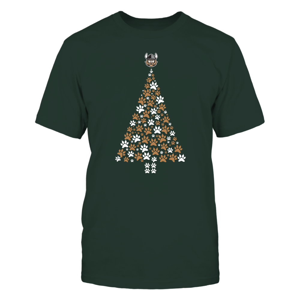 Cleveland State Vikings - Christmas - Cat Paw Christmas Tree - Team Front picture
