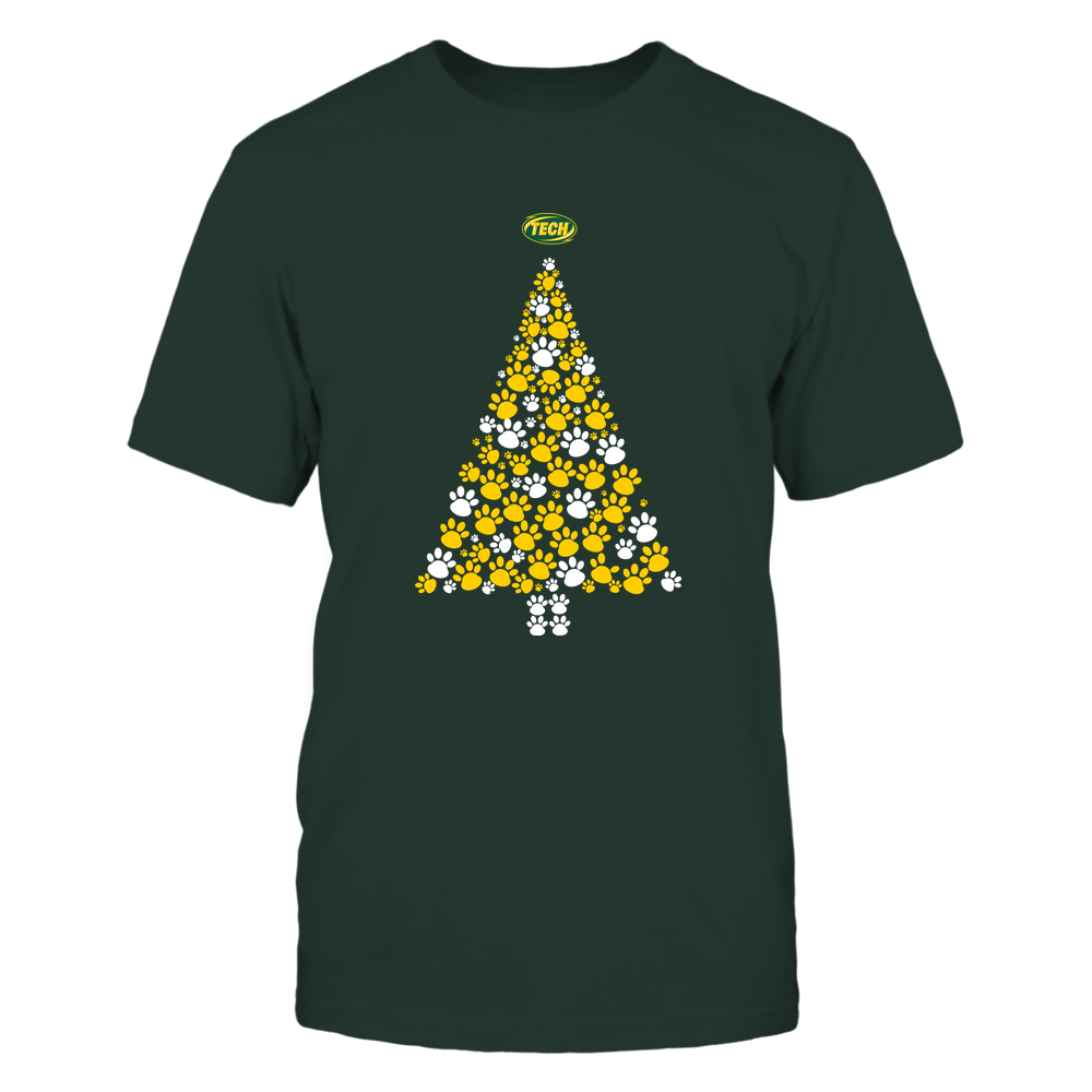 Arkansas Tech Golden Suns - Christmas - Dog Paw Christmas Tree - Team Front picture