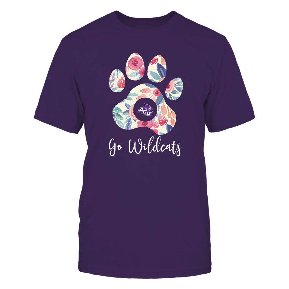 Abilene Christian Wildcats - Beautiful Floral Paw Front picture