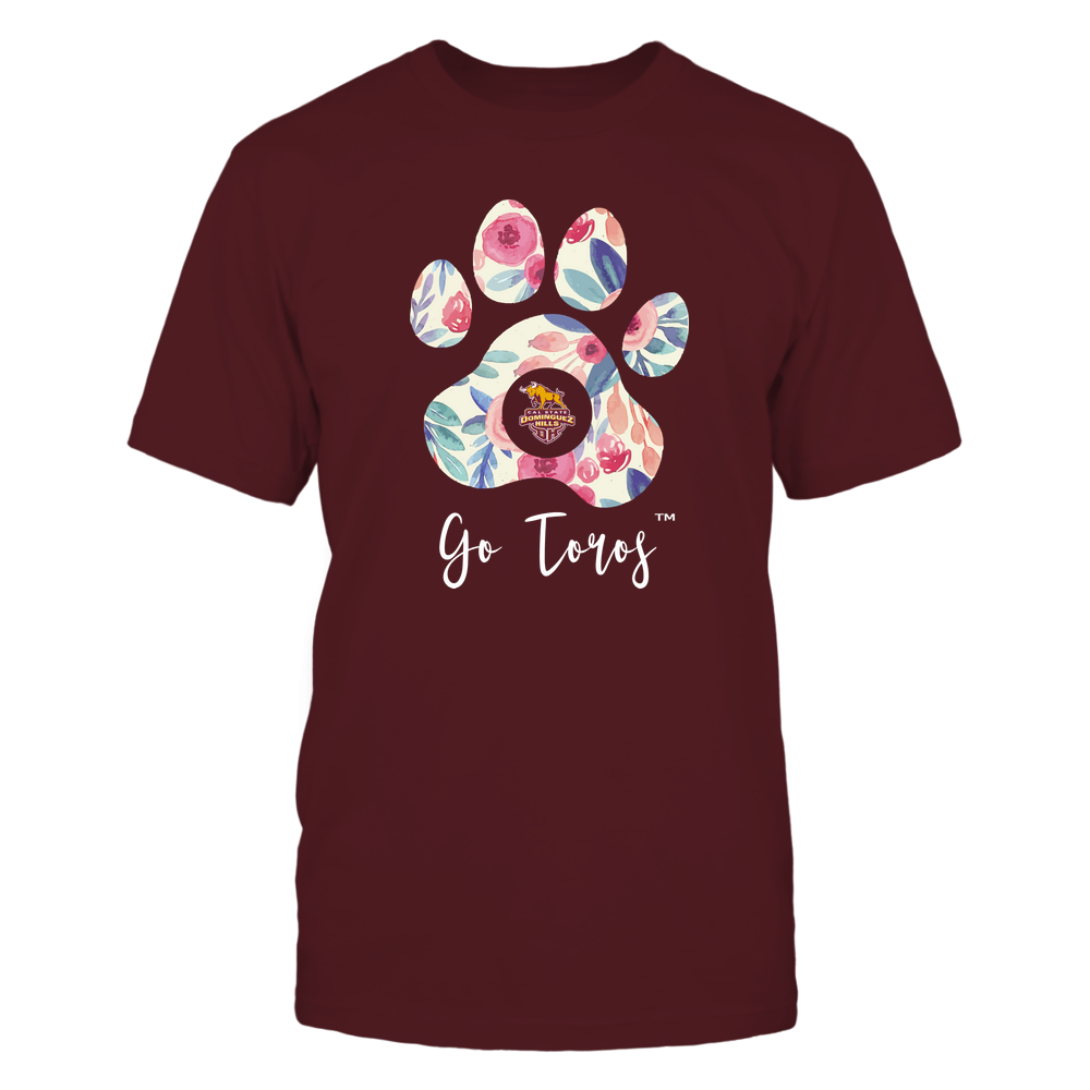 Cal State Dominguez Hills Toros - Beautiful Floral Paw Front picture