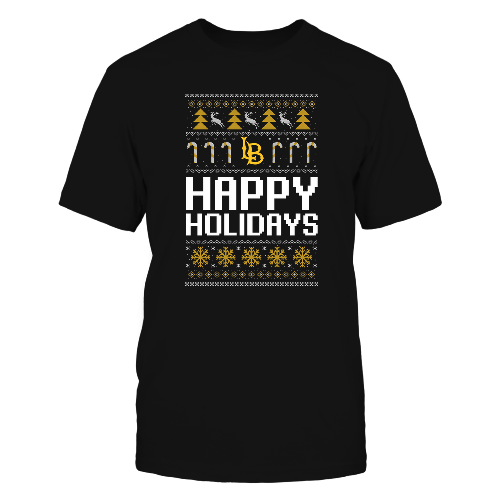 Long Beach State 49ers - Christmas - Happy Holidays Sweater - Team Front picture