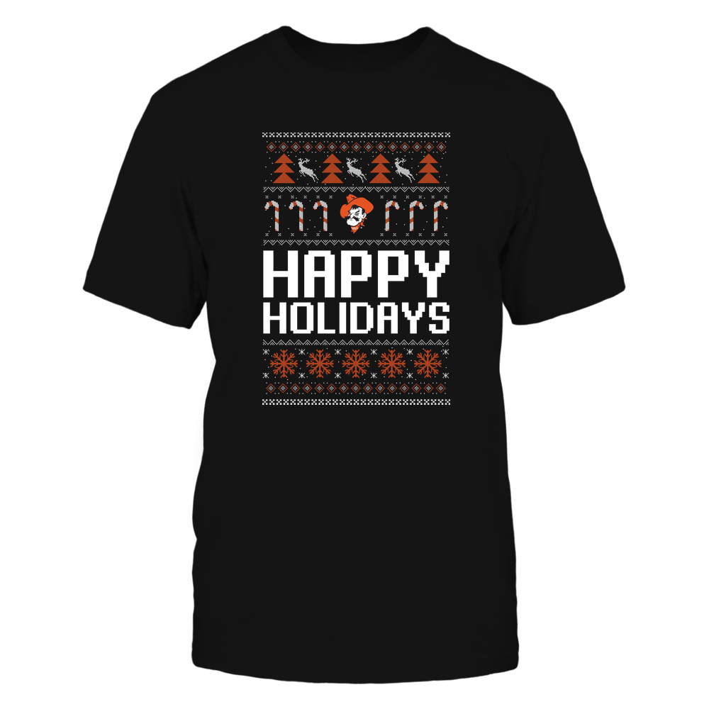 Oklahoma State Cowboys - Christmas - Happy Holidays Sweater - Team Front picture