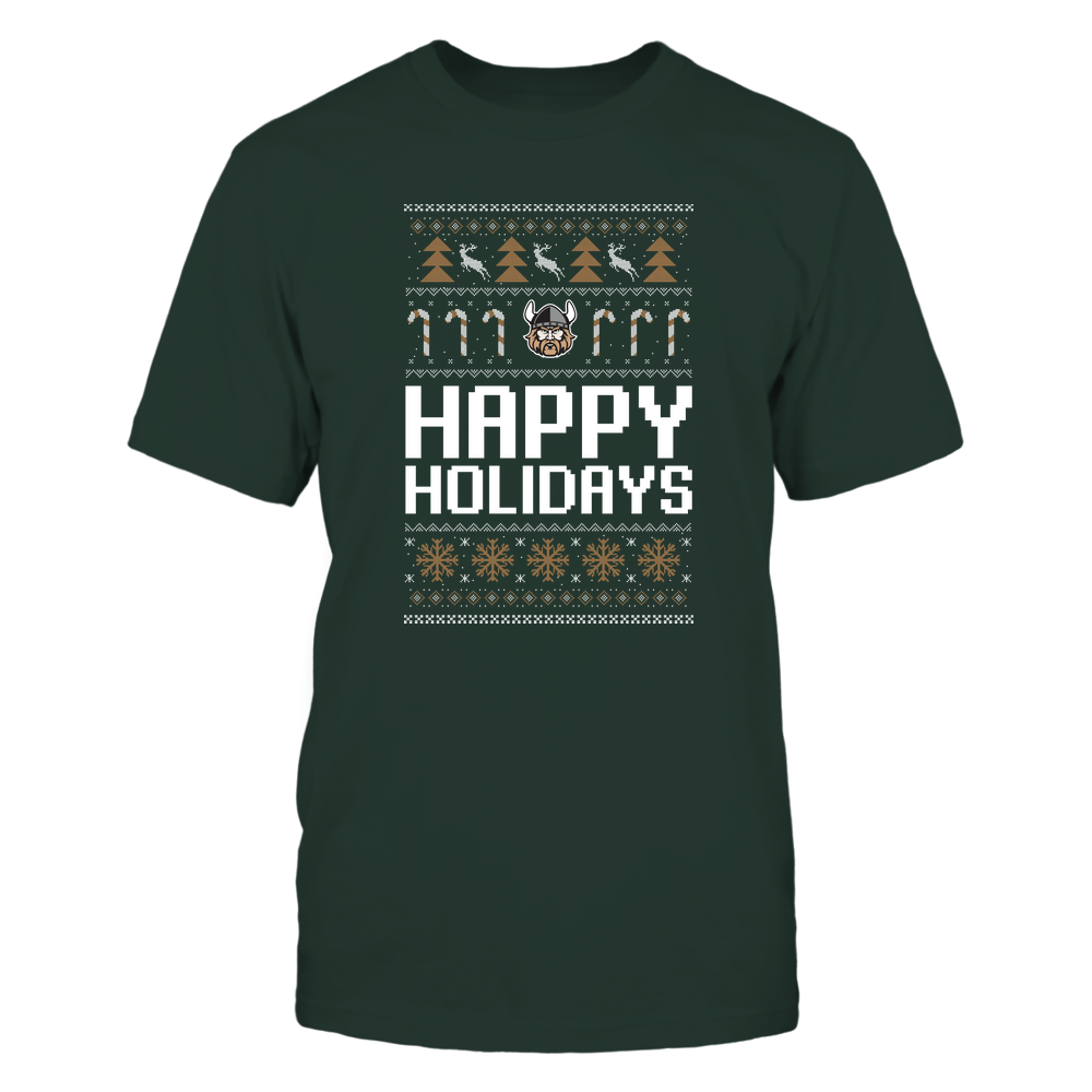 Cleveland State Vikings - Christmas - Happy Holidays Sweater - Team Front picture