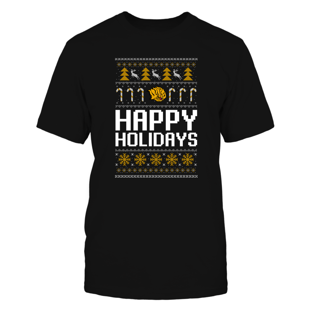 Arkansas Pine Bluff Golden Lions - Christmas - Happy Holidays Sweater - Team Front picture