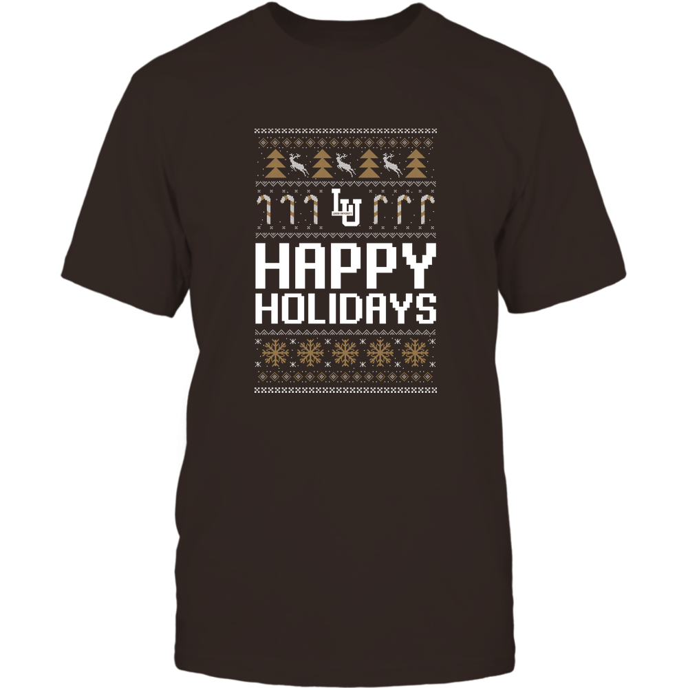 Lehigh Mountain Hawks - Christmas - Happy Holidays Sweater - Team Front picture