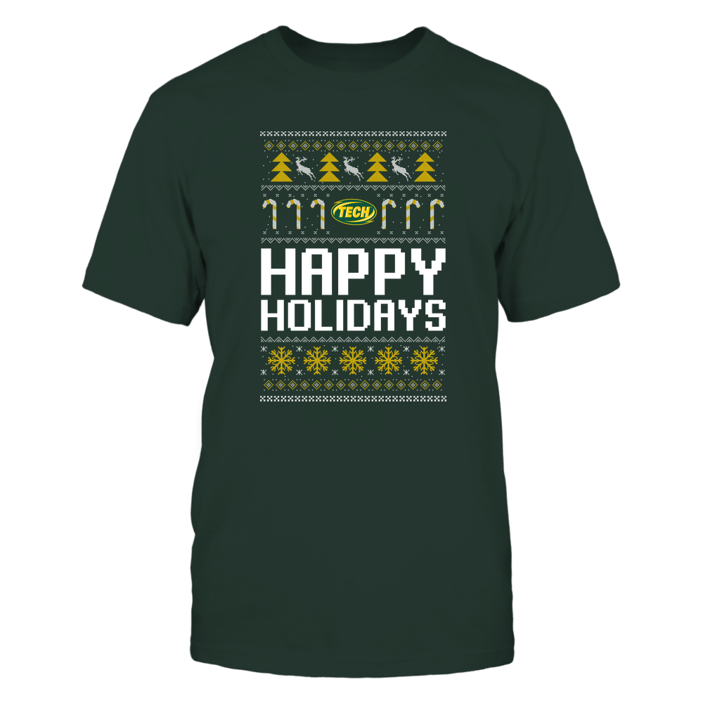 Arkansas Tech Golden Suns - Christmas - Happy Holidays Sweater - Team Front picture