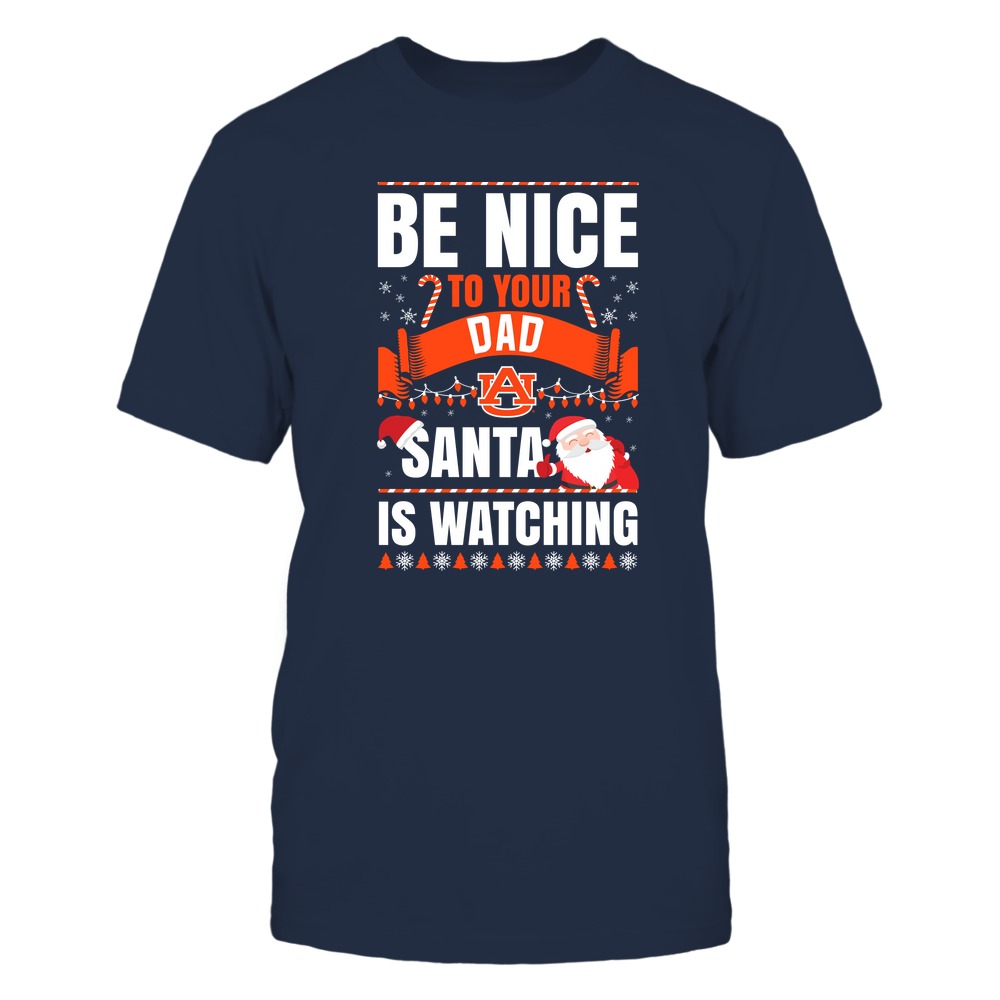Auburn Tigers - Christmas - Be Nice To Your Dad - Santa Is Watching - Team Front picture