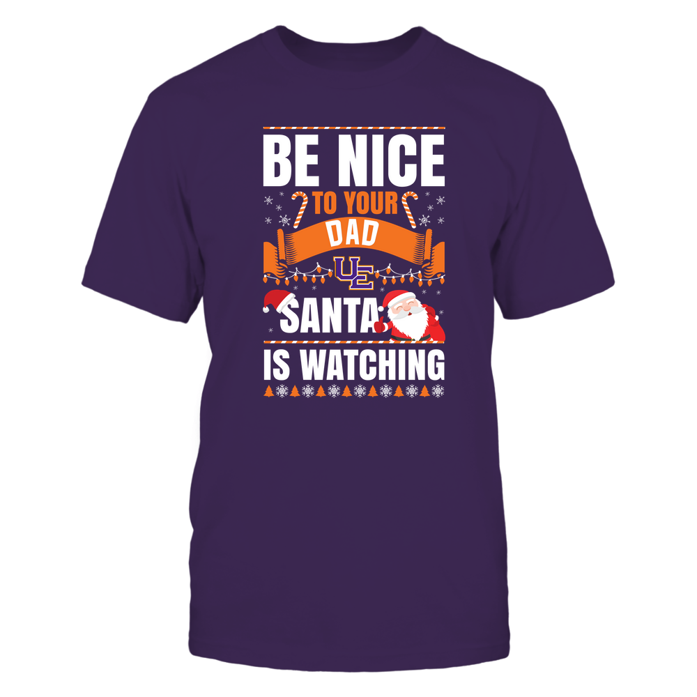 Evansville Purple Aces - Christmas - Be Nice To Your Dad - Santa Is Watching - Team Front picture