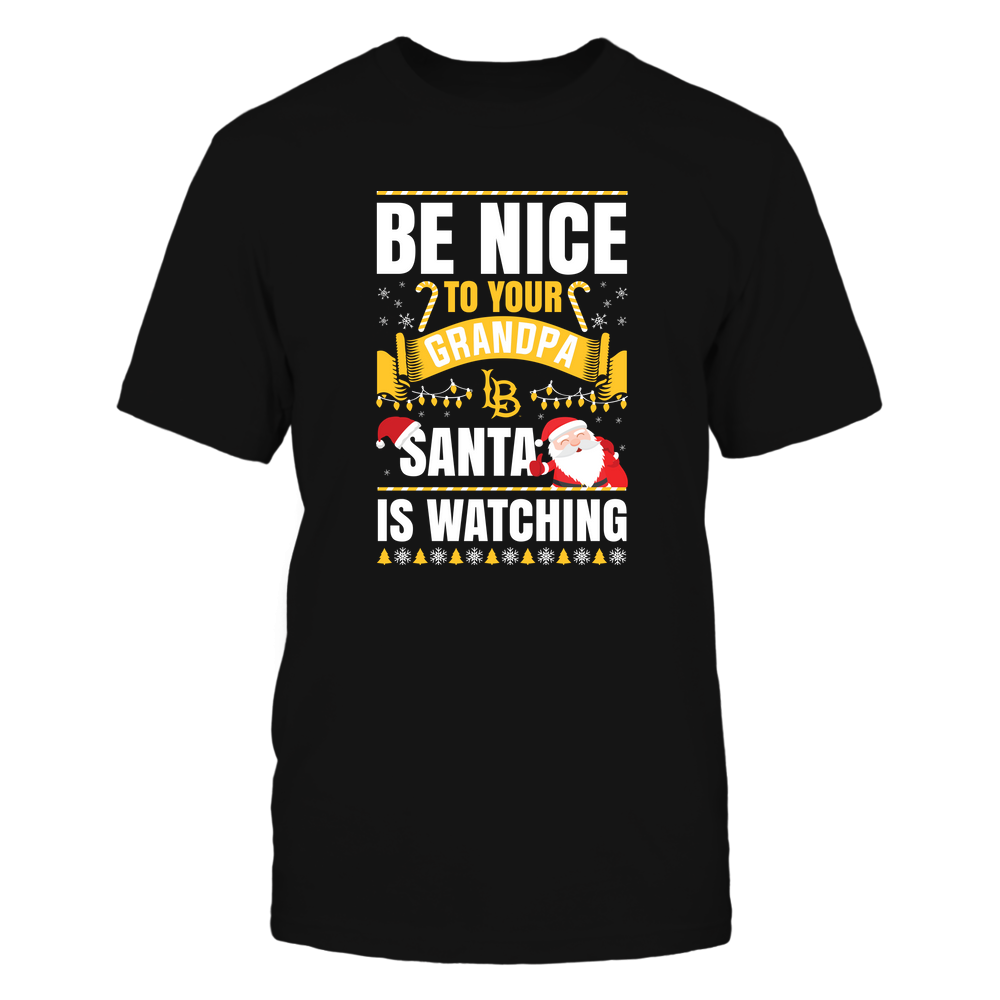 Long Beach State 49ers - Christmas - Be Nice To Your Grandpa  - Santa Is Watching - Team Front picture