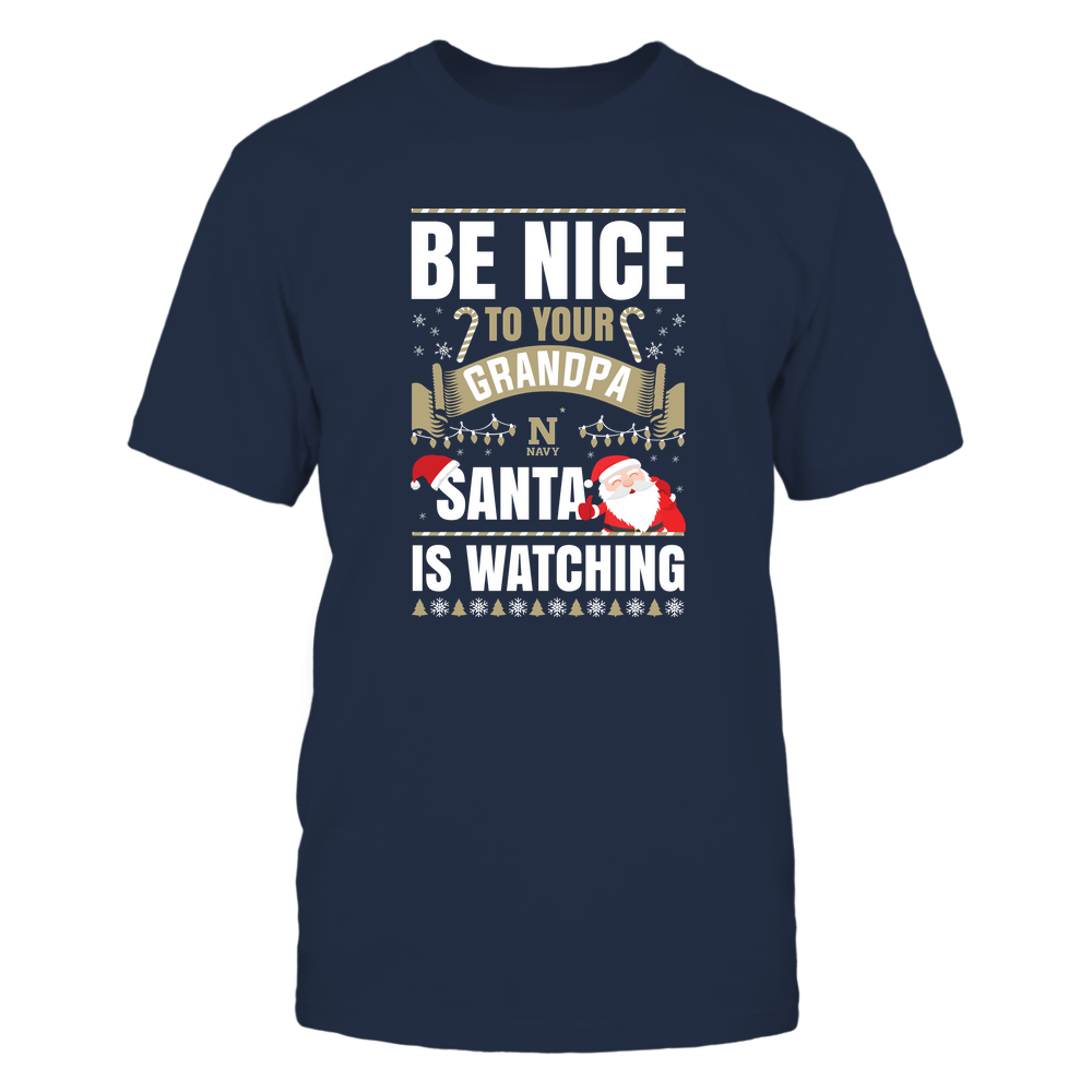 Navy Midshipmen - Christmas - Be Nice To Your Grandpa  - Santa Is Watching - Team Front picture
