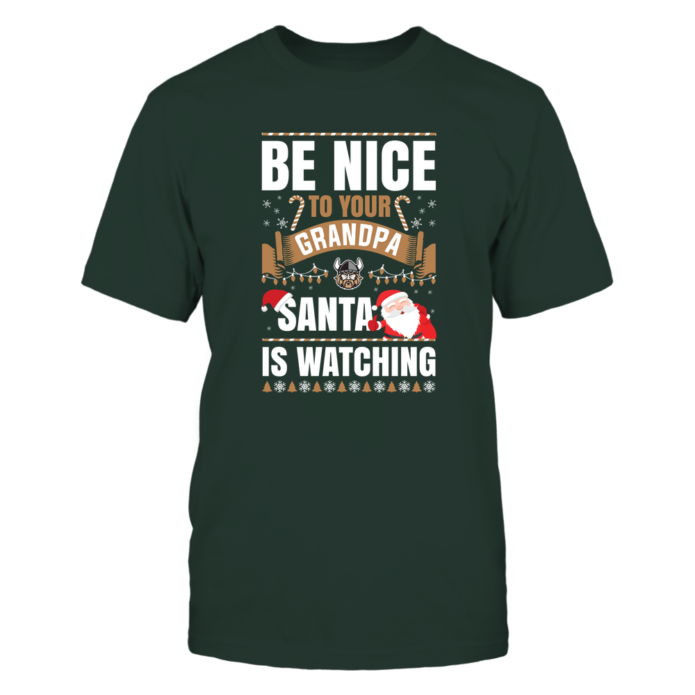 Cleveland State Vikings - Christmas - Be Nice To Your Grandpa  - Santa Is Watching - Team Front picture