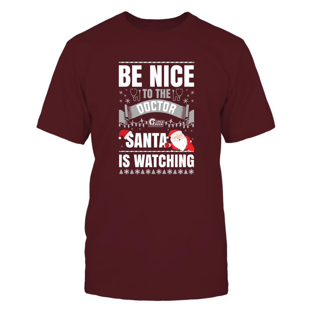 Arkansas Little Rock Trojans - Christmas - Be Nice To The Doctor - Santa Is Watching - Team Front picture