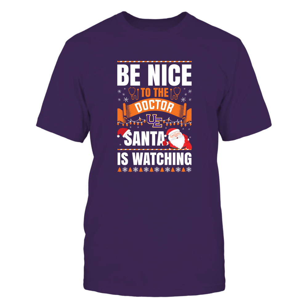 Evansville Purple Aces - Christmas - Be Nice To The Doctor - Santa Is Watching - Team Front picture