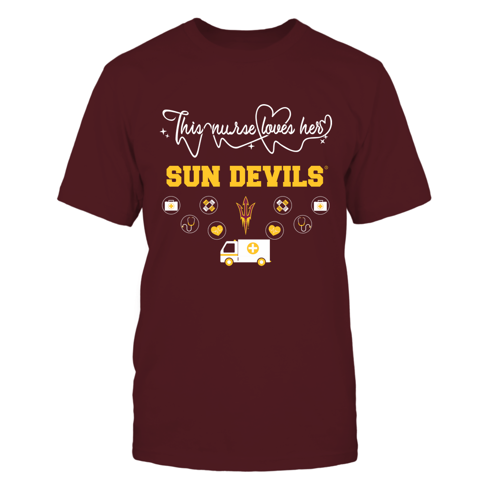 Arizona State Sun Devils - Nurse Loves Team - Mascot Pattern - Team Front picture