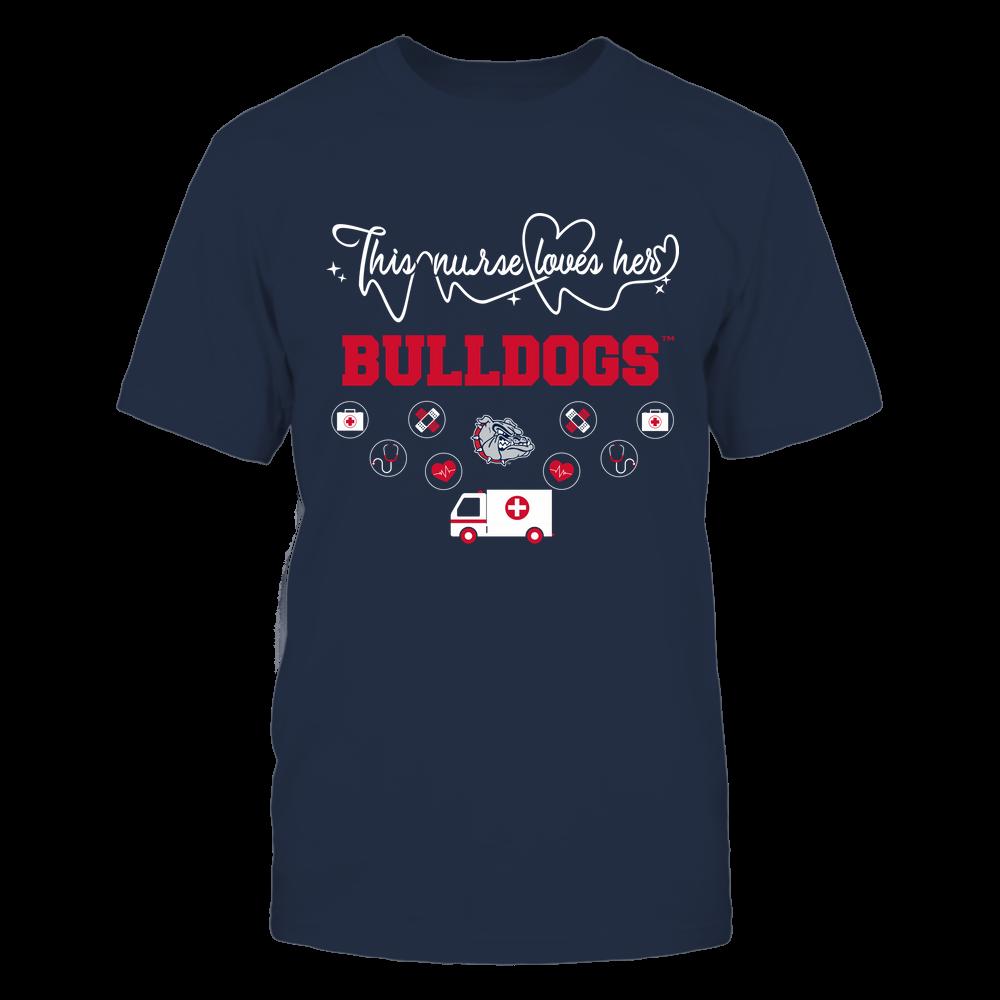 Gonzaga Bulldogs - Nurse Loves Team - Mascot Pattern - Team Front picture
